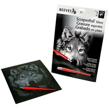 Reeves Silver Scraperfoil, Wolf