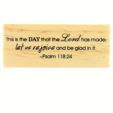 Biblical Scripture Psalms Rubber Stamp by Recollections
