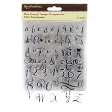 Brush Script Alphabet Clear Stamps by Recollections