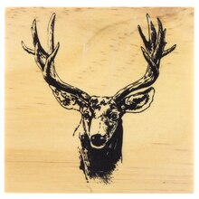 Deer Head Wood Stamp by Recollections