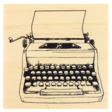 Typewriter Wood Stamp by Recollections™