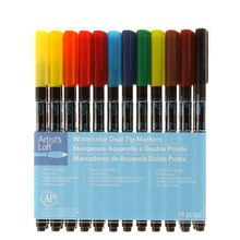 Watercolor Dual Tip Markers by Artist's Loft Front