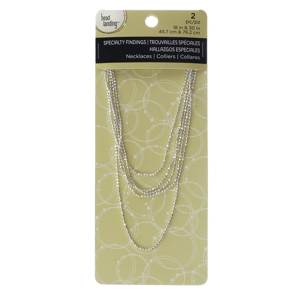 Buy the silver chains by bead landing at michaels necklace by bead landing silver 18 mozeypictures Image collections
