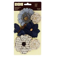 Vintage Petals Embellishments by Recollections Blue