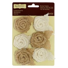 Creme & Natural Burlap Roses by Recollections