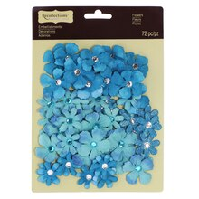 Jewel Flower Embellishments by Recollections™ Aqua