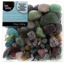 Semi-Precious Mixed Color Beads by Bead Landing