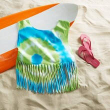 Tie Dye Fringe T-Shirt, medium
