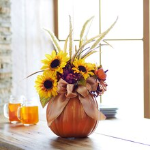 Pumpkin Fall Floral Arrangement, medium
