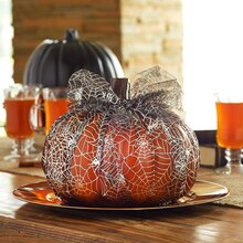 Tulle-Wrapped Pumpkin, medium