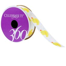 Celebrate It® 360° Satin Ribbon, Ducks