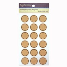 Kraft Circle Labels by Recollections