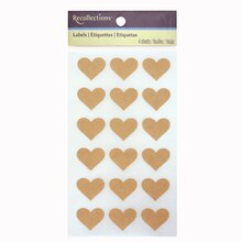 Kraft Heart Labels by Recollections