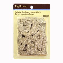 Gold Chipboard Alphabet Stickers by Recollections
