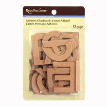 Natural Chipboard Alphabet Stickers by Recollections