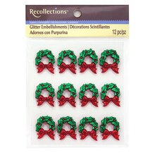 Wreath Glitter Embellishments by Recollections