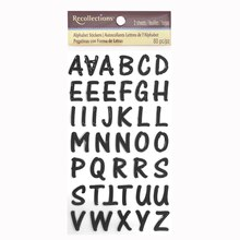 Epoxy Alphabet Stickers by Recollections, Black