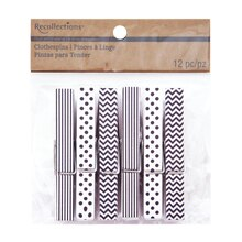 Craft It Patterned Clothespins by Recollections, White
