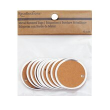 Recollections Craft It Metal Rimmed Tags, Kraft