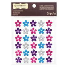 Glitter Flower Stickers by Recollections