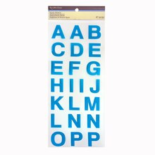Blue Epoxy Alphabet Stickers by Recollections™ Blue
