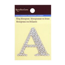 Rhinestone studded Bling Monogram by Recollections