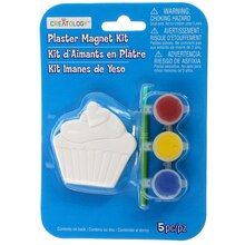Cupcake Plaster Magnet Kit by Creatology