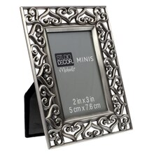Pewter Hearts Frame by Studio Decor Side