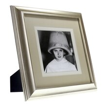 "Silver Wood Frame With Double Mat by Studio Decor, 5""x5"""