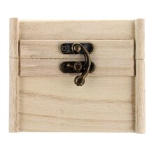 "Square Wood Box by ArtMinds, 4.13"" x 3.94"" x 3.42"""