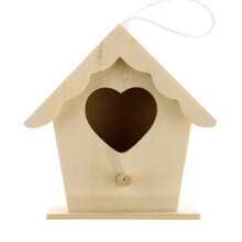Mini Wood Birdhouse by ArtMinds, Heart