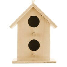 Mini Wood Birdhouse by ArtMinds, 2-Hole