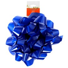 "Lacquer Jumbo Bow by Celebrate It, 6"" Royal Blue"