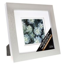 "Grey Gallery Frame with Double Mat by Studio Décor, 5"" x 5"" Profile"