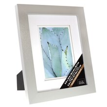 "Gray Gallery Frame With Double Mat by Studio Decor®, 5"" x 7"""