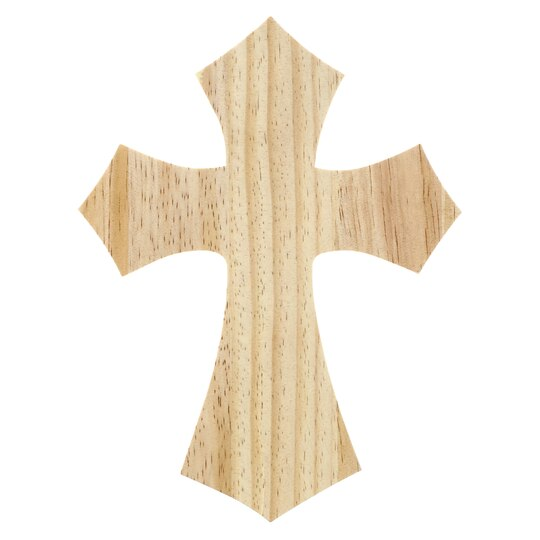 Wood Hanging Cross by ArtMinds™