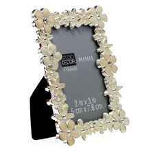 White Mini Floral Frame by Studio Decor