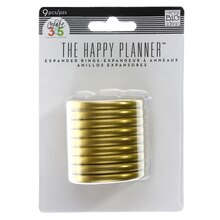 Create 360 The Happy Planner Expander Rings, Gold Package