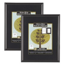 "2-Pack Studio Decor® Trendsetter™ Poster Frame, Black 16"" x 20"", medium"