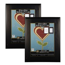 "2-Pack Studio Decor® Trendsetter™ Poster Frame, Black 22"" x 28"", medium"