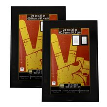 2 pack studio decor trendsetter poster frame black 24 x 36