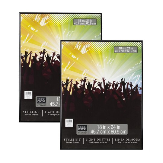 Black styleline 2 pack poster frames by studio d cor for 18 x 27 window