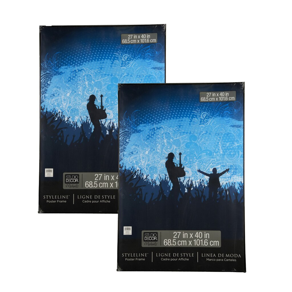 Black Styleline™ 2 Pack Poster Frames by Studio Décor®