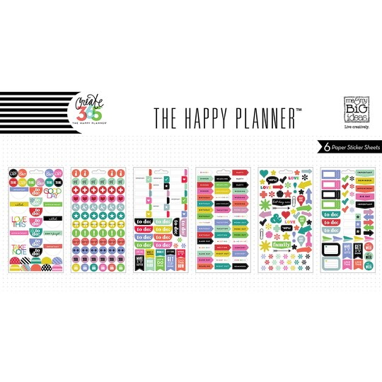 Create 365 the happy planner to do stickers brights