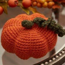 Crochet Pumpkin, medium