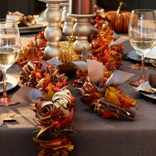 Dried Floral Fall Table Garland, medium
