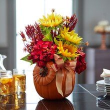 Pumpkin Floral Arrangement, medium