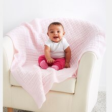Loops & Threads® Snuggly Wuggly® Big Baby Blocks Knit Blanket, medium