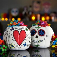 Day of the Dead Pumpkins, medium