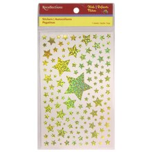 Assorted Gold Iridescent Star Stickers by Recollections